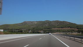 Tripcar to Tarragona. Spain, city of Calig August 2014. The trip by car. Accelerated video stock video footage