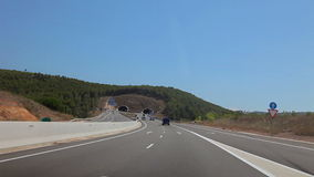 Tripcar to Tarragona. Spain, city of Calig August 2014. The trip by car. Accelerated video stock footage