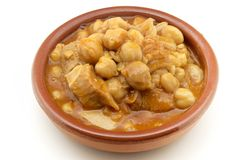 Tripe with chickpeas Royalty Free Stock Photo
