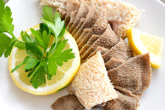 Tripe with lemon Royalty Free Stock Photo