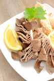 Tripe with lemon Royalty Free Stock Image