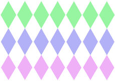 Tripe pastel diamonds. Triple pastel diamonds to use as a background Royalty Free Stock Images