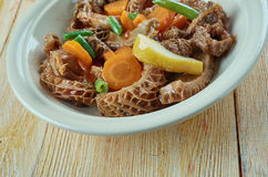 Tripes a la mode de Caen. Traditional dish of the cuisine of Normandy, France stock images