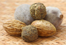 Triphala, a combination of ayurvedic fruits Stock Image
