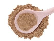 Triphala organic powder in wooden spoon Royalty Free Stock Photography