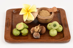 Triphala (thai name) as well as the fruit of three medicines. Royalty Free Stock Image