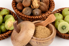 Triphala (thai name) as well as the fruit of three medicines. Stock Image