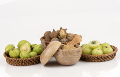 Triphala (thai name) as well as the fruit of three medicines. Royalty Free Stock Images