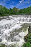 Triphammer Waterfall beside the Cornell University campus stock images