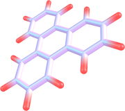 Triphenylene molecule structural model on white Stock Images