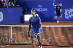 Triphosphate d'adénosine 2014 de Rafael Nadal Barcelona Open 500 Photos stock