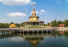 Tripitaka Hall in Pa Kung Temple at Roi Et Stock Photography