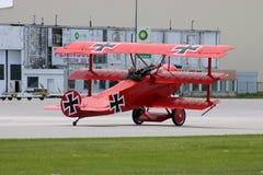 Triplano de Fokker Imagen de archivo libre de regalías