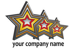 Triple 3D Star Logo Royalty Free Stock Photo