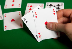 Triple aces. Stock Photography