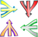 Triple arrow Stock Image