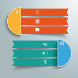 2 Triple Banners. Infographic design on the grey background Royalty Free Stock Photo