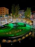 Triple bridge in Ljubljana royalty free stock photos