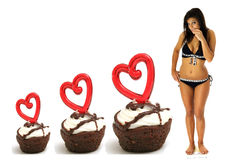 Triple brownie weightloss Stock Image