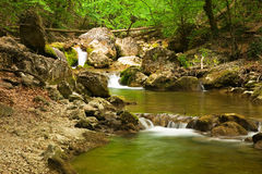 Triple cascade Stock Image
