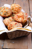 Triple cheese muffins Royalty Free Stock Photo