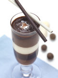 A triple choco mousse Royalty Free Stock Images