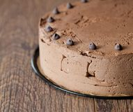 Triple chocolate cake Stock Photo