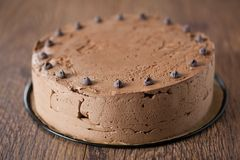 Triple chocolate cake Royalty Free Stock Photo