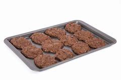 Triple Chocolate Cookies Stock Image