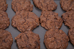 Triple Chocolate Cookies Royalty Free Stock Photo