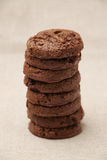 Triple Chocolate Cookies Royalty Free Stock Image