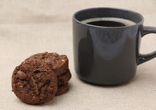 Triple Chocolate Cookies Royalty Free Stock Images