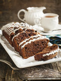 Triple chocolate loaf cake Royalty Free Stock Image