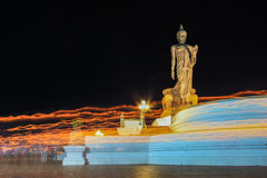 Triple circumambulation at Phutthamonthon on Visakha Puja Day. Phutthamonthon is a Buddhist park in Nakhon,Thailand.Visakha Puja Day marks not only the Lord Stock Image