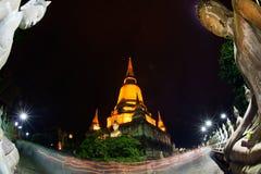 Triple circumambulation in Wat Yai Chai Mongkhon temple , Thailand. Stock Photos