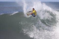 Triple Crown de practicar surf Imagen de archivo