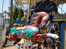 Triple crown winning horse carousel ride Stock Images