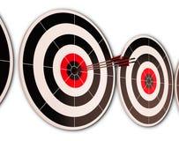 Triple Dart Shows Successful Performance Stock Photo