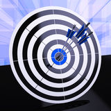 Triple Dart Shows Winning Strategy And Excellence Royalty Free Stock Photo