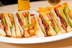 Triple decker club sandwich Royalty Free Stock Image