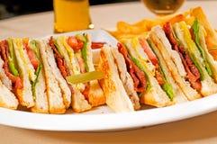Triple decker club sandwich Royalty Free Stock Image
