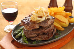 Triple Decker  Steak Royalty Free Stock Images