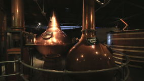 Triple distillation. Old Jameson Distillery Tours. In Dudlin stock video