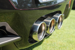 Triple exhaust Royalty Free Stock Image