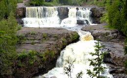 Triple Falls. Triple set of waterfalls - Gooseberry Falls Stock Images