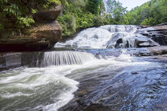 Triple Falls, DuPont Natural Forest Royalty Free Stock Image