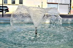 Triple Fountain at JFK Assassination Memorial Dallas, TX Pic 2 Royalty Free Stock Photography