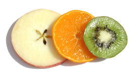 Triple fruit Royalty Free Stock Image