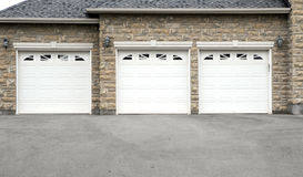 Triple Garage Royalty Free Stock Images
