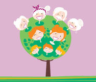 Triple generation family tree Royalty Free Stock Photo